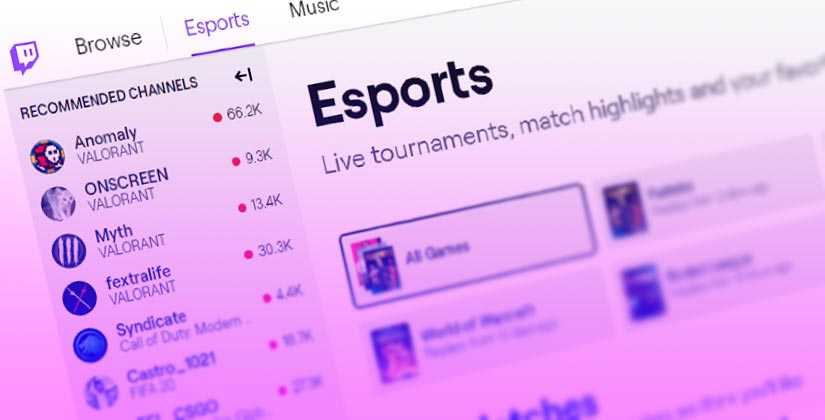Twitch Adds Esports Directory